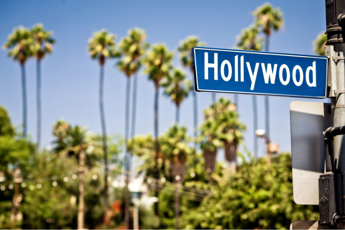 A Hollywood street sign.