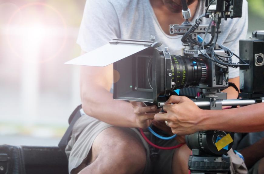 A film camera in Hollywood
